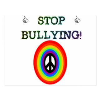 stop the bullying sign postcard