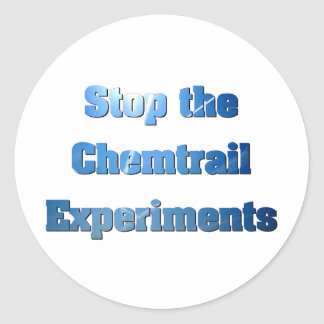 Stop the Chemtrail Experiments Sticker