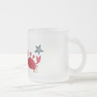 Stop the Crab! Frosted Glass Coffee Mug