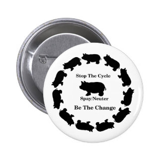 Stop The Cycle, Be The Change, Spay/Neuter Button