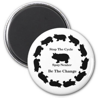 Stop The Cycle, Be The Change, Spay/Neuter, Magnet