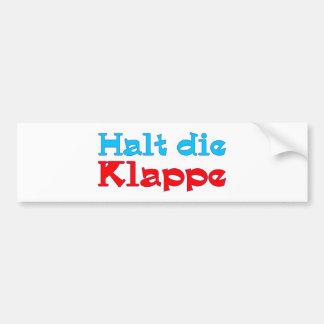 Stop the flap bumper sticker