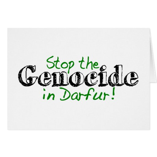 Stop The Genocide Darfur Cards