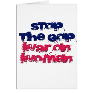 Stop the GOP War on Women Greeting Card
