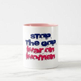 Stop the GOP War on Women Two-Tone Coffee Mug