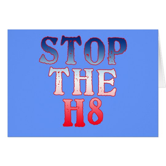 STOP THE H8 Products Card