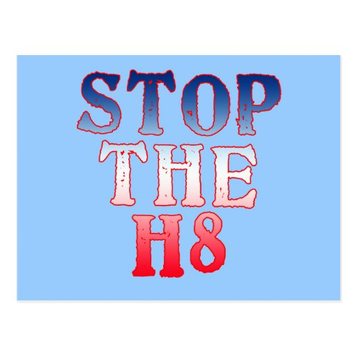 STOP THE H8 Products Post Cards