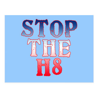 STOP THE H8 Products Postcard
