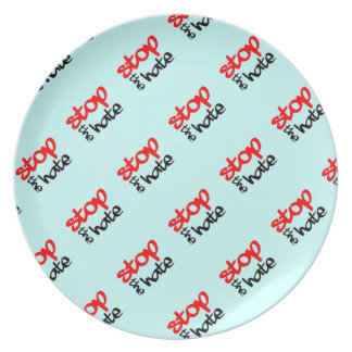 Stop the Hate Melamine Plate