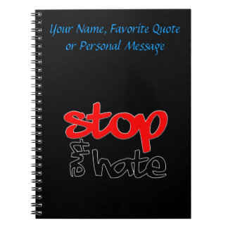 Stop the Hate Spiral Notebook