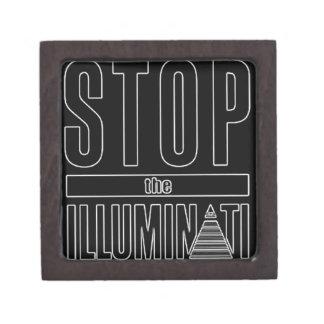Stop The Illuminati Premium Trinket Box