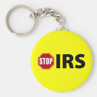Stop the IRS Basic Round Button Keychain