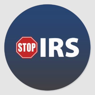 Stop the IRS Classic Round Sticker