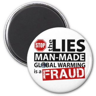 Stop the Lies about Global Warming 2 Inch Round Magnet