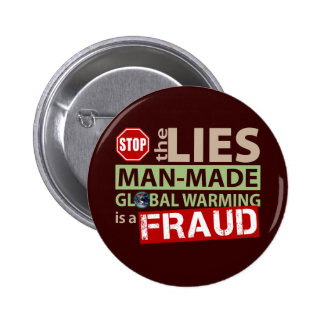 Stop the Lies about Global Warming Button