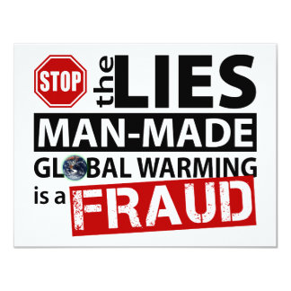 Stop the Lies about Global Warming Card