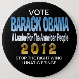STOP THE LUNATIC FRINGE PINBACK BUTTON
