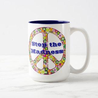 Stop The Madness Two-Tone Coffee Mug