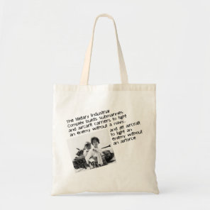 Stop The Military Industrial Complex Tote Bag