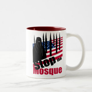 STOP THE MOSQUE Two-Tone COFFEE MUG