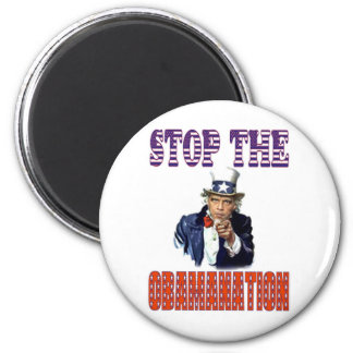 Stop the Obamanation T-shirt Refrigerator Magnet