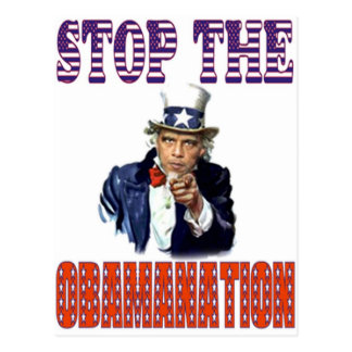 Stop the Obamanation T-shirt Postcards