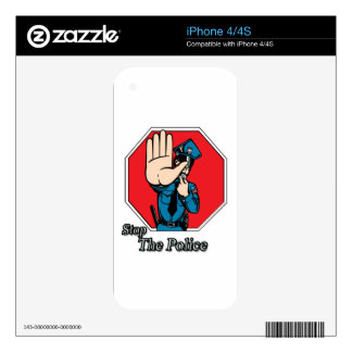 Stop the police decal for iPhone 4