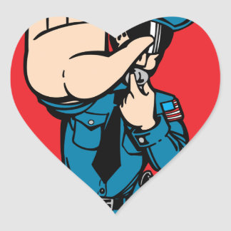 Stop the police heart sticker