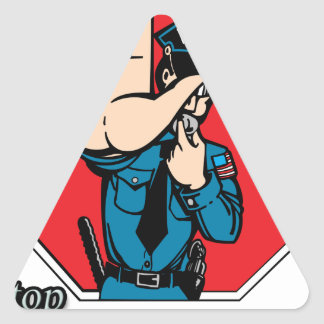Stop the police triangle sticker