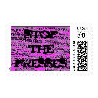 Stop The Presses, Vintage Newspaper Print Postage