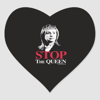 Stop the Queen - Anti Hillary png white - .png Heart Sticker