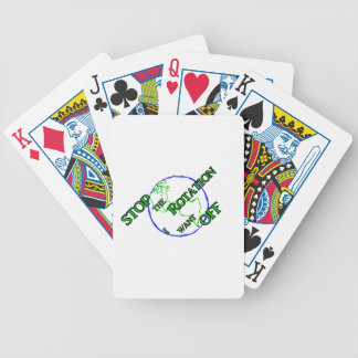 Stop the Rotation Bicycle Playing Cards