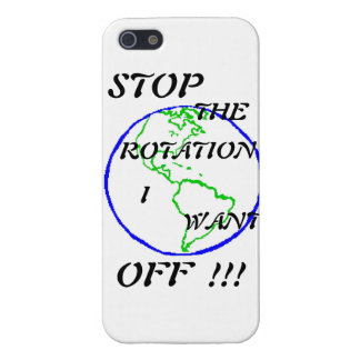 Stop the rotation, I want off !!! Cover For iPhone SE/5/5s