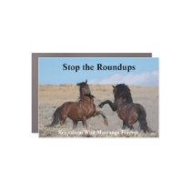 Stop the roundups car magnet
