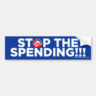 Stop The Spending Bumper Stickers