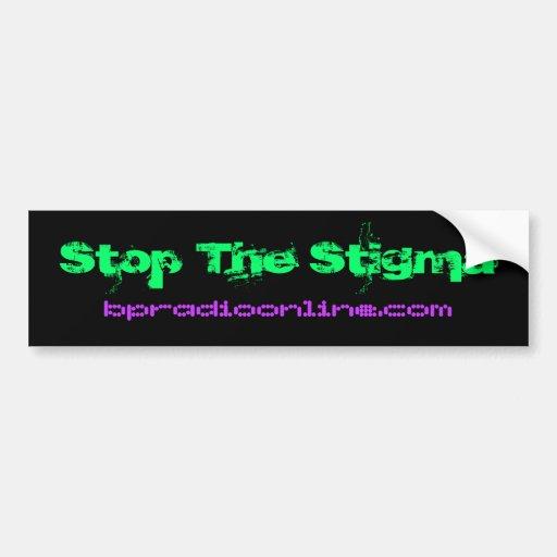 Stop The Stigma Car Bumper Sticker