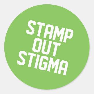 stop the Stigma Classic Round Sticker