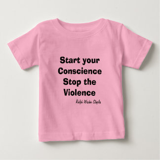Stop the violence baby t shirt