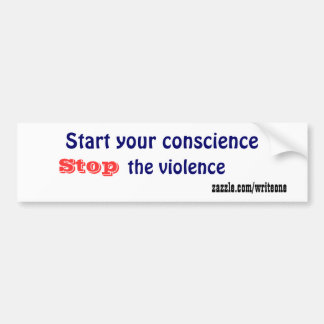 Stop the violence bumper stickers
