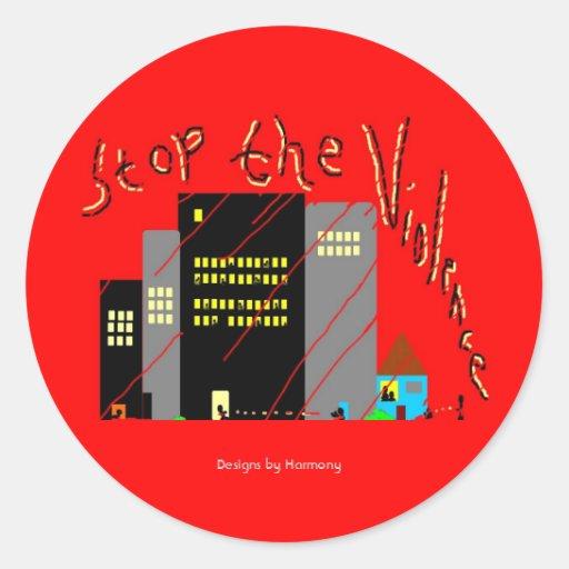 Stop The Violence Lrg Sticker