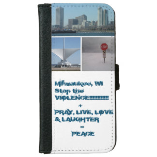 Stop the violence Mill iPhone 6/6s Wallet Case