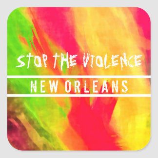 STOP THE VIOLENCE NEW ORLEANS Large Glossy Sticker
