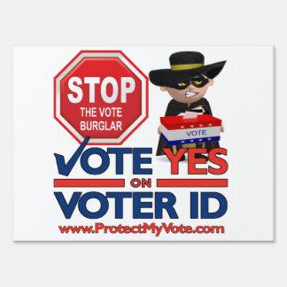 Stop the Vote Burglar Lawn Sign
