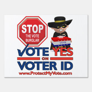 Stop the Vote Burglar Sign