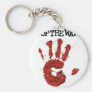 stop the war basic round button keychain