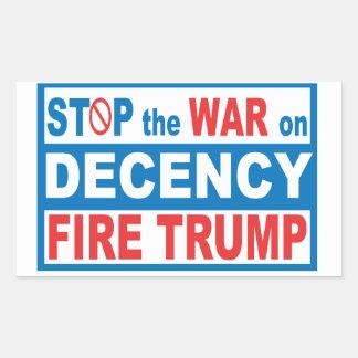 Stop The War on Decency Sticker
