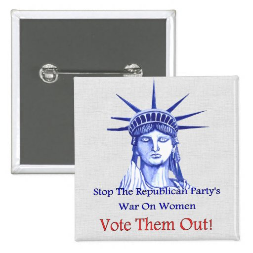 Stop The War On Women 2 Inch Square Button