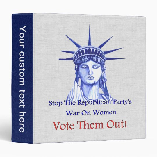 STOP THE WAR ON WOMEN 3 RING BINDER