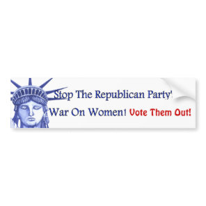 STOP THE WAR ON WOMEN BUMPER STICKER