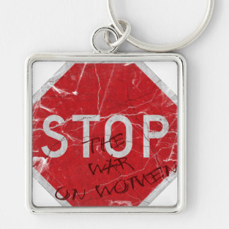 Stop the War on Women Keychain